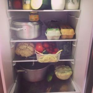 Uspořádání zeleniny v lednici, verze. 5.0. Přesto stále dochází ke ztrátám. Foto: SLáma v botách