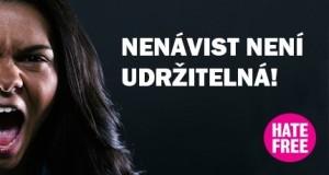 Logo Hate Free kampaně, více na hatefree.cz. Foto: Sláma v botách